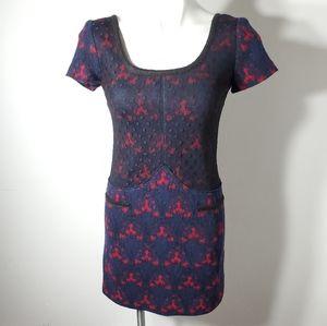 Anna Sui Short Sleeve Wool Dress 4